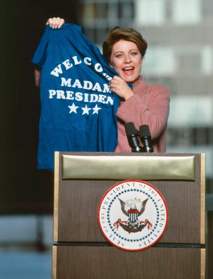 Patty Duke as Madam President in 'Hail to the Chief'