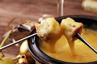 """<p>Another throwback that's perfect for a long, cold winter night at home? The classic cheese fondue. This one kicks things up a notch by infusing crab into the mix.</p> <p><a href=""""https://www.thedailymeal.com/best-recipes/easy-crab-fondue?referrer=yahoo&category=beauty_food&include_utm=1&utm_medium=referral&utm_source=yahoo&utm_campaign=feed"""" rel=""""nofollow noopener"""" target=""""_blank"""" data-ylk=""""slk:For the Crab Fondue recipe, click here."""" class=""""link rapid-noclick-resp"""">For the Crab Fondue recipe, click here.</a></p>"""