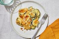 <p>This comforting zucchini casserole with buttery crackers and cheese is the perfect recipe for your bumper crop of zucchini. Fresh thyme is lightly floral while fresh ground pepper adds kick to this creamy summer casserole.</p>