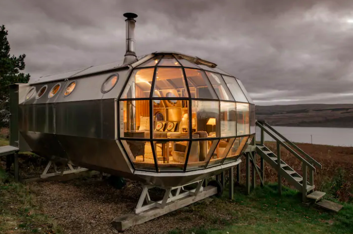 "<p>Over in Drimnin, Scotland, this sustainable airship is quite the looker. Known as Airship 002, it has wrap-around views of the Sound of Mull, unique <a href=""https://www.housebeautiful.com/uk/decorate/a33803883/worst-interior-design-trends/"" rel=""nofollow noopener"" target=""_blank"" data-ylk=""slk:interiors"" class=""link rapid-noclick-resp"">interiors</a>, four acres of land and a lovely patio area. If you're looking for the perfect place away from the crowds, then add this to your travel wish-list. </p><p><a class=""link rapid-noclick-resp"" href=""https://airbnb.pvxt.net/oeq2RY"" rel=""nofollow noopener"" target=""_blank"" data-ylk=""slk:BOOK NOW"">BOOK NOW</a></p>"