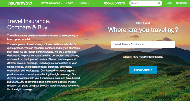 Websites like Insuremytrip.com allow travelers to compare trip insurance plans beyond those offered by airlines.