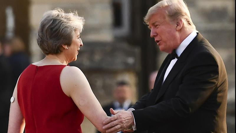 Theresa May is reaching out to Donald Trump for a free trade deal once Britain leaves the EU