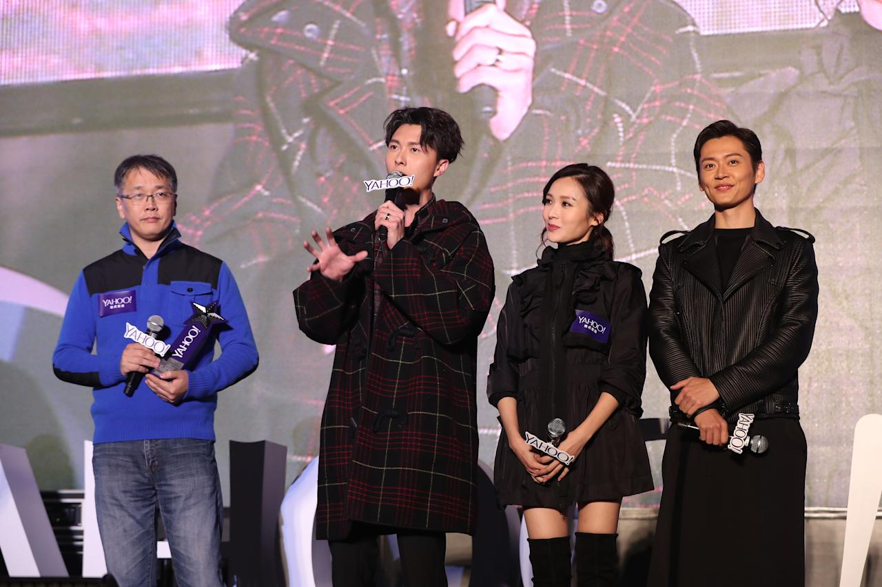 <p>Vincent Wong, Ali Lee and Owen Cheung at the Yahoo Asia Buzz Awards 2017 in Hong Kong on Wednesday (6 December).</p>