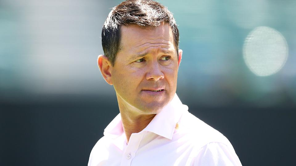 Ricky Ponting was part of a somewhat tense verbal joust with veteran journalist Peter Lalor when the two were commentating the first Test in Adelaide recently. (Photo by Scott Barbour - CA/Cricket Australia via Getty Images/Getty Images)
