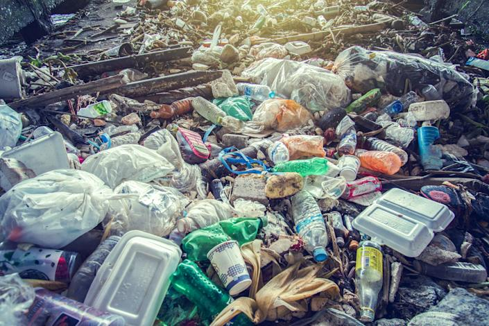 Plastic pollution poses a huge threat to the environment. (Getty Images)