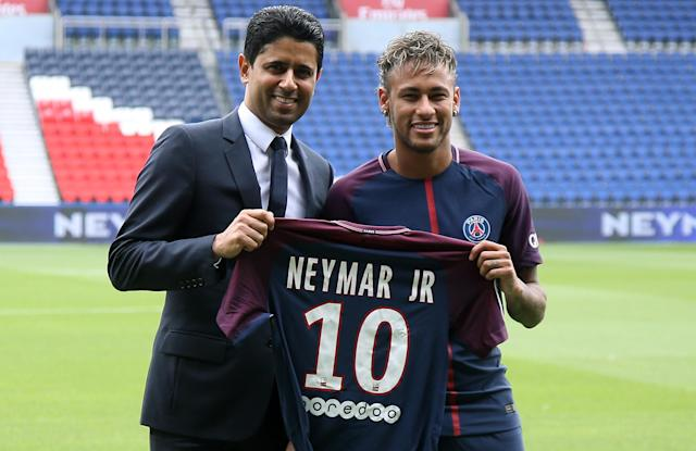 "<a class=""link rapid-noclick-resp"" href=""/olympics/rio-2016/a/1215128/"" data-ylk=""slk:Neymar"">Neymar</a> was undoubtedly the biggest signing of the summer. (Getty)"