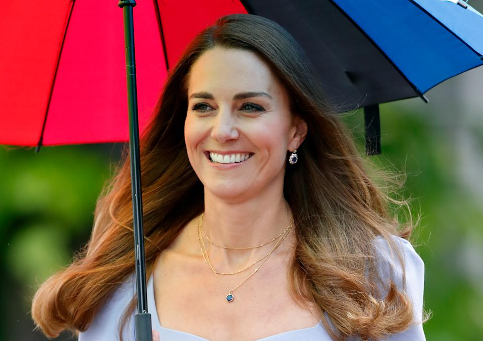 LONDON, UNITED KINGDOM - JUNE 18: (EMBARGOED FOR PUBLICATION IN UK NEWSPAPERS UNTIL 24 HOURS AFTER CREATE DATE AND TIME) Catherine, Duchess of Cambridge attends the launch of The Royal Foundation Centre for Early Childhood at Kensington Palace on June 18, 2021 in London, England. The Duchess of Cambridge has launched her own Centre for Early Childhood, to raise awareness of the importance of early years. (Photo by Max Mumby/Indigo/Getty Images)