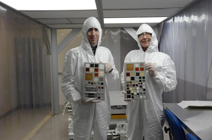 The company Alpha Space recently sent the MISSE-FF platform to the International Space Station to test different materials' durability when faced with the harshness of space. <cite>Alpha Space</cite>