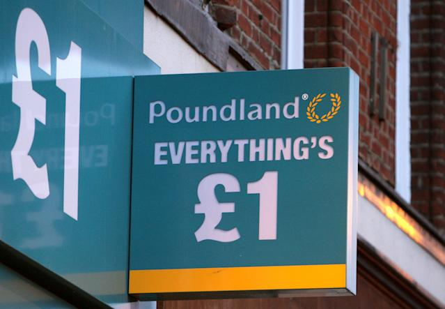 Poundland's owner reported falling revenue. (PA)