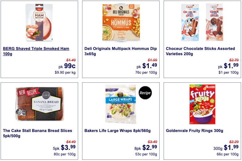 Super Saver grocery discounts at Aldi this week.