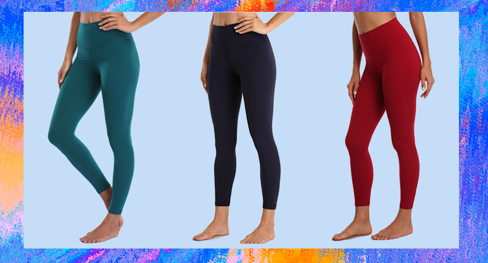 Amazon shoppers love these leggings as an affordable dupe for pricey Lululemon styles.
