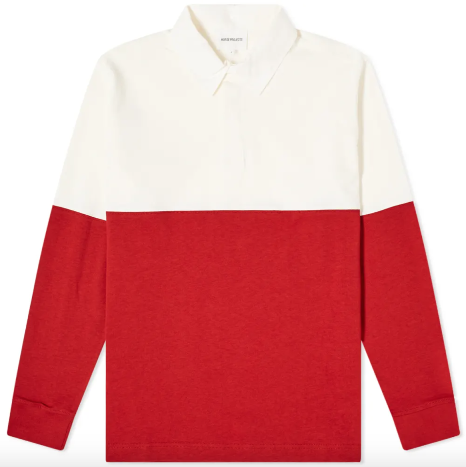 """<p><strong>Norse Projects</strong></p><p>endclothing.com</p><p><strong>$155.00</strong></p><p><a href=""""https://go.redirectingat.com?id=74968X1596630&url=https%3A%2F%2Fwww.endclothing.com%2Fus%2Fnorse-projects-ruben-colour-block-rugby-shirt-n10-0162-5040.html&sref=https%3A%2F%2Fwww.esquire.com%2Fstyle%2Fmens-fashion%2Fg28074063%2Fbest-rugby-shirts%2F"""" rel=""""nofollow noopener"""" target=""""_blank"""" data-ylk=""""slk:Shop Now"""" class=""""link rapid-noclick-resp"""">Shop Now</a></p>"""