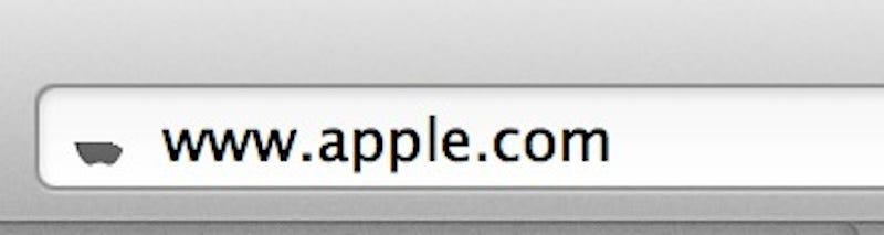 Apple favicon bookmark icon half mast design details