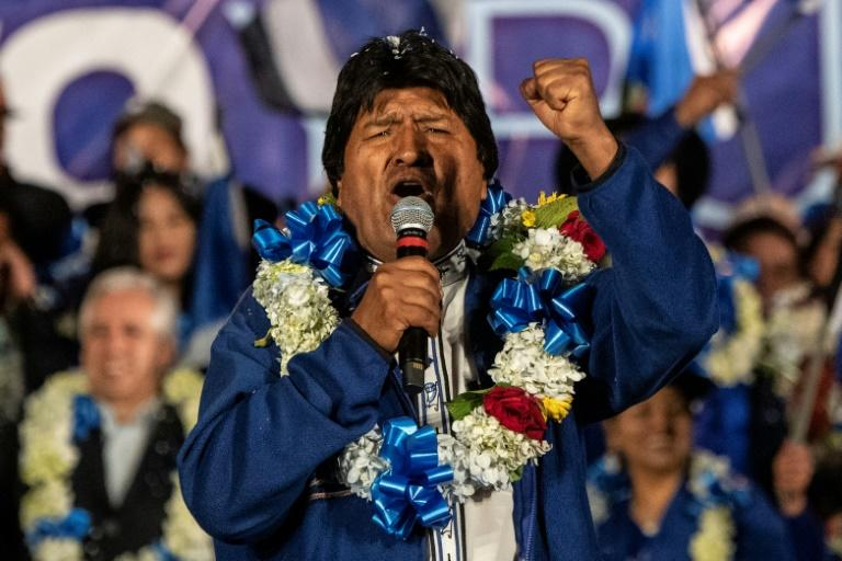 Evo Morales was the region's longest-serving leader until he resigned on November 10 (AFP Photo/Pedro UGARTE)