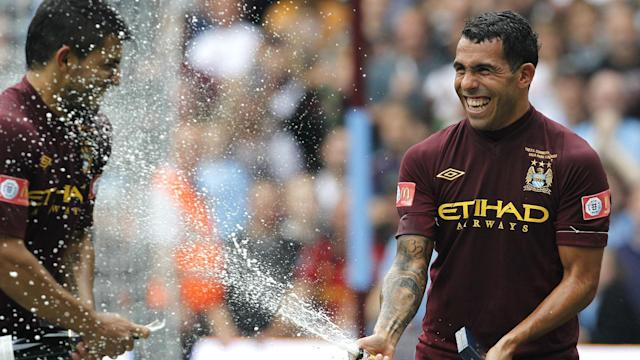 Aguero Tevez Chelesea Manchester City Community Shield 2012