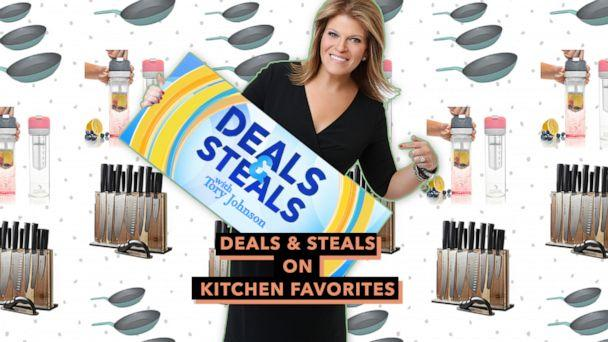PHOTO: Deals & Steals on Kitchen Favorites (ABC News Photo Illustration, Berghoff, Pressa, Shmidt Brothers)