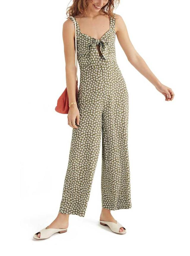 Light green floral jumpsuit with center tie. (Photo: Madewell/Nordstrom)