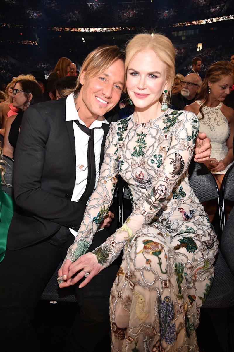 Nicole Kidman and Keith Urban at the 52nd Academy Of Country Music Awards at T-Mobile Arena on April 2, 2017 in Las Vegas, Nevada.
