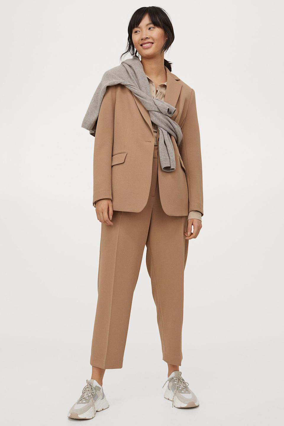 <p>Style these <span>H&amp;M Slacks</span> ($35) with sneakers and a matching blazer for a cool off-duty look.</p>