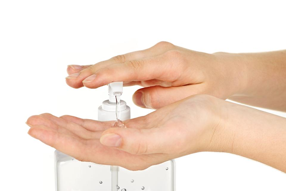 Keep an all-natural hand sanitizer that promises to kill 99.9 per cent of germs in your pocket or purse at all times.