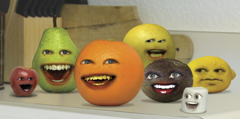 "In this image released by Cartoon Network, a scene is shown from the web series, ""The Annoying Orange.""  The popular Internet hit is coming to TV as a Cartoon Network series. (AP Photo/Cartoon Network)"