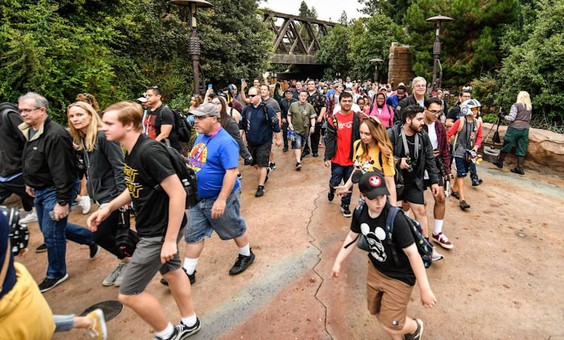 "Disneyland guests enter ""Star Wars"": Galaxy's Edge on June 24, 2019. (Photo: Jeff Gritchen/MediaNews Group/Orange County Register via Getty Images)"