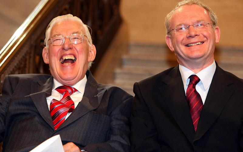 Ian Paisley and Martin McGuinness after being sworn in as ministers of the Northern Ireland Assembly - Credit: Paul Faith/PA Wire