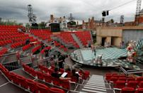 Shakespeare is back on stage after an 18-month absence due to the pandemic, performed at a new open-air theatre in the bard's home town