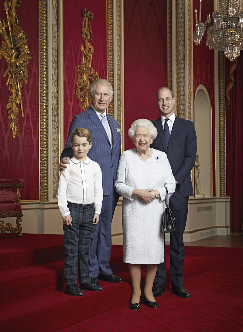 All the Heirs to the British Throne—Including Prince George—Pose in a New Royal Family Portrait