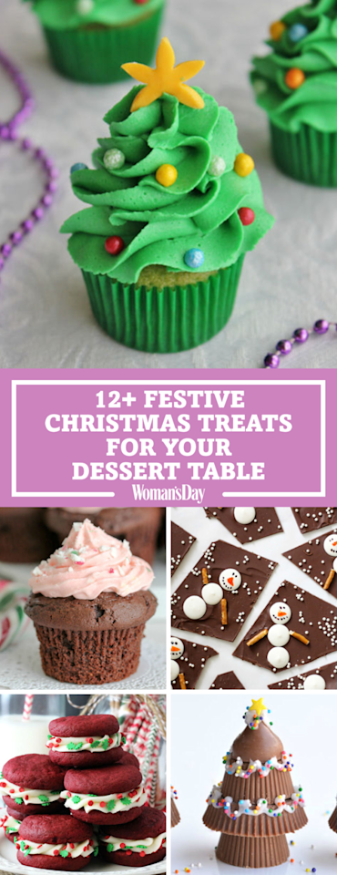 "<p>Save these Christmas dessert recipes for later! Don't forget to <a rel=""nofollow"" href=""https://www.pinterest.com/womansday/"">follow <em>Woman's Day</em> on Pinterest</a> for more great recipes.</p>"