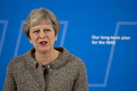 Britain's Prime Minister Theresa May speaks at the Royal Free Hospital, London June 18, 2018. Stefan Rousseau/Pool via Reuters
