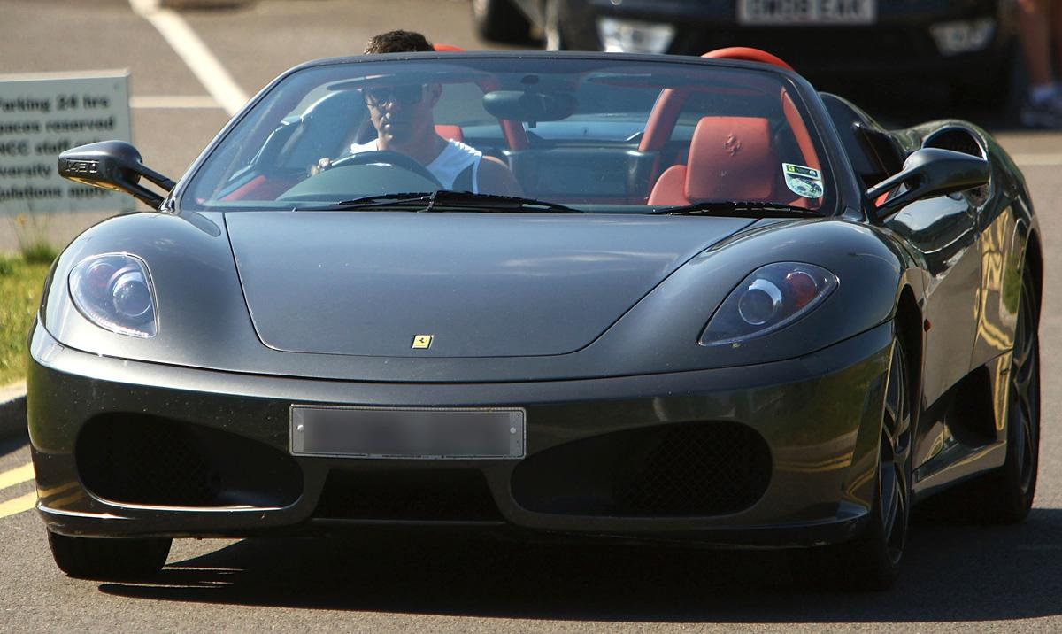 Kevin Pietersen of England leaves training in his Ferrari after a nets session at the National Cricket Performance Centre at Loughborough University on May 31, 2009 in Loughborough, England.  (Photo by Matthew Lewis/Getty Images) *** Local Caption *** Kevin Pietersen