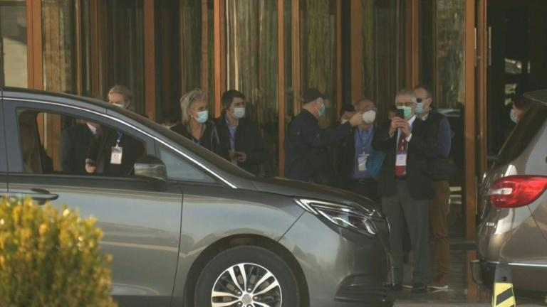 Wuhan: WHO members get into cars outside hotel as fieldwork poised to start