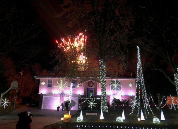 PHOTO: Louie Cortez, an IT analyst and diehard Swift fan from Topeka, Kansas, programmed his Christmas light show to Swift's song, '...Ready For It?' (Courtesy Louie Cortez)