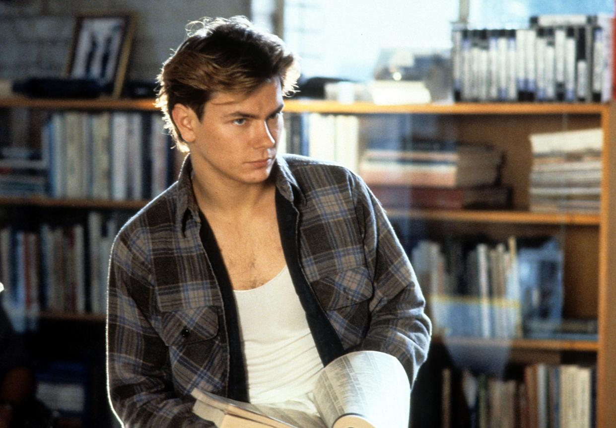 River Phoenix in a scene from the film 'Sneakers', 1992. (Photo by Universal Pictures/Getty Images)