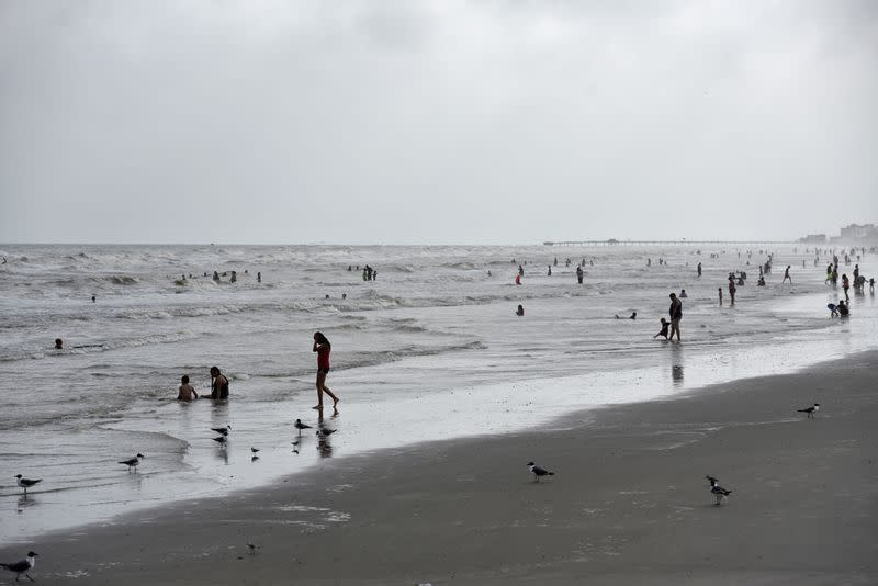 People flock to the beach after coronavirus disease (COVID-19) restrictions were lifted in time for the Memorial Day weekend in Galveston