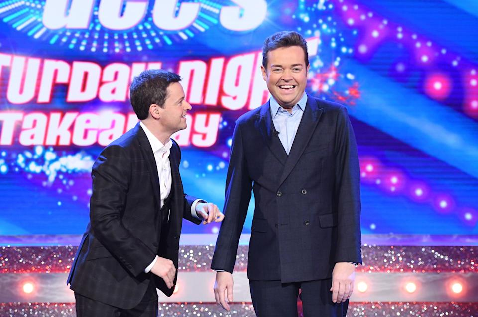 Dec joined on stage by Stephen Mulhern at the weekend, (REX)