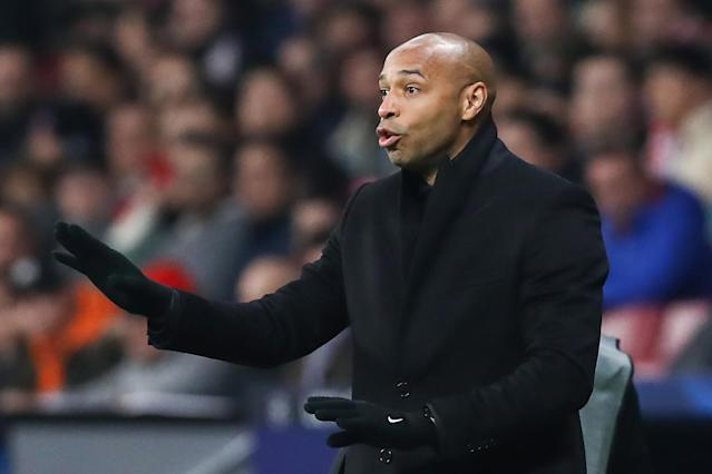 Thierry Henry managed Monaco from October 2018 to January 2019. (Photo by Stanislav Krasilnikov\TASS via Getty Images)
