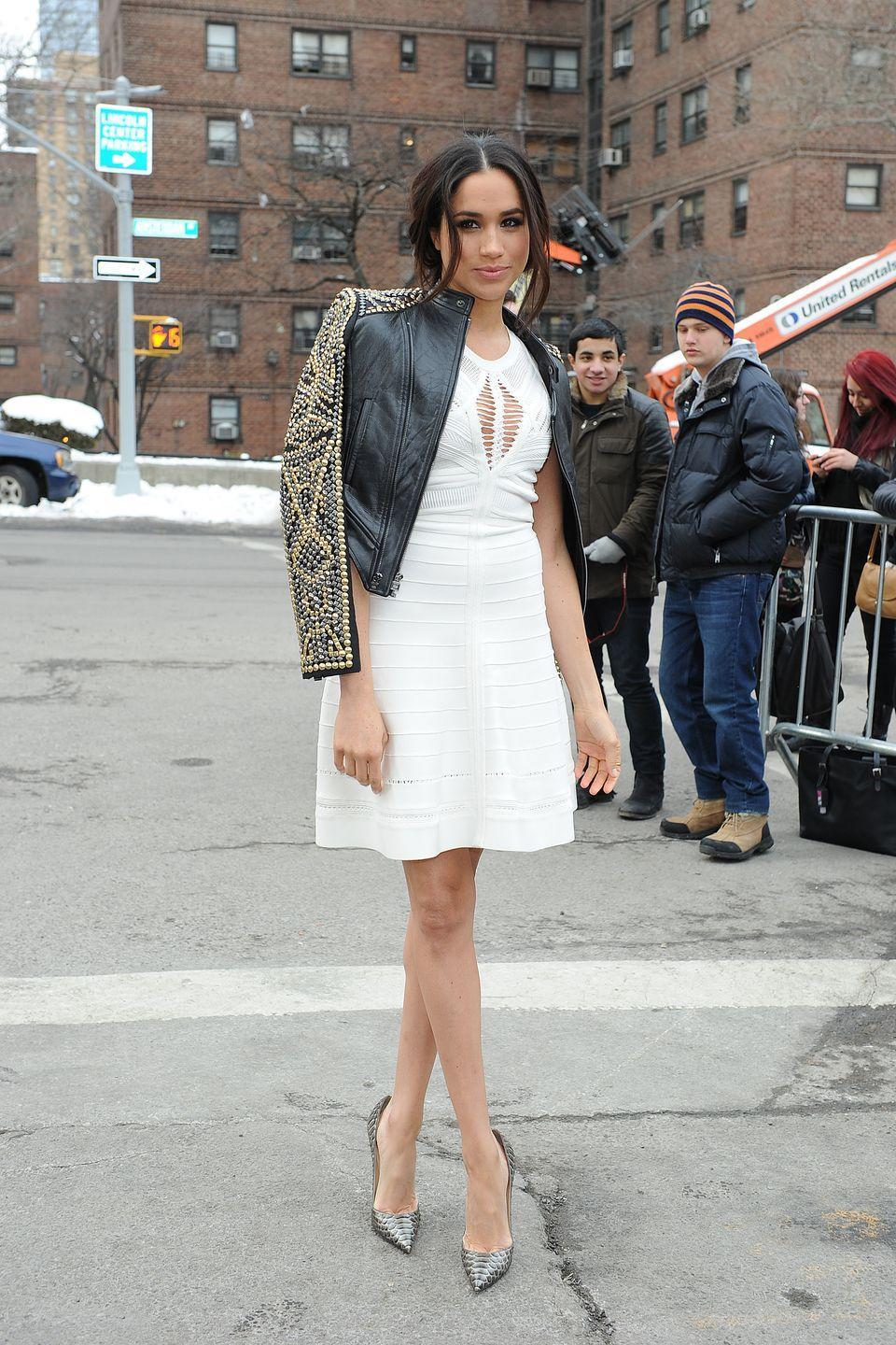 <p>Meghan Markle at the Lincoln Centre, February 2014</p>