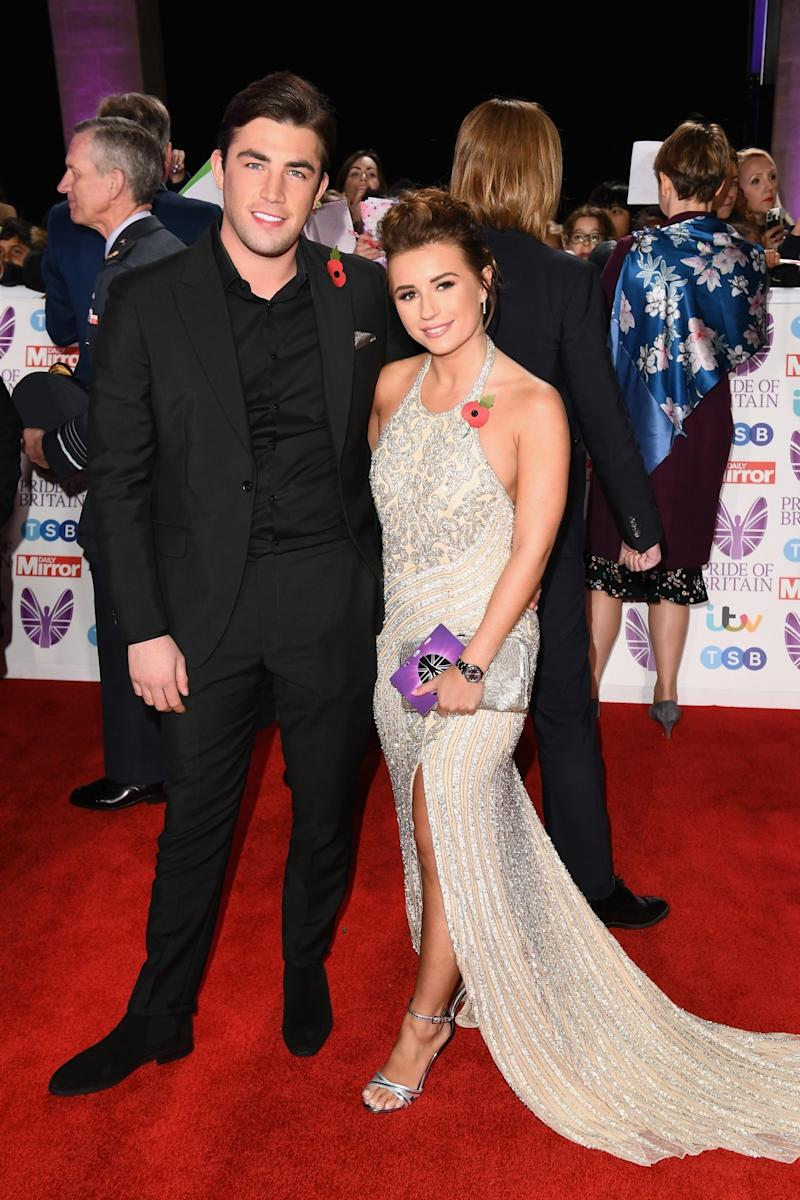 Happier times: Jack Fincham with Dani Dyer last year (Jeff Spicer/Getty)