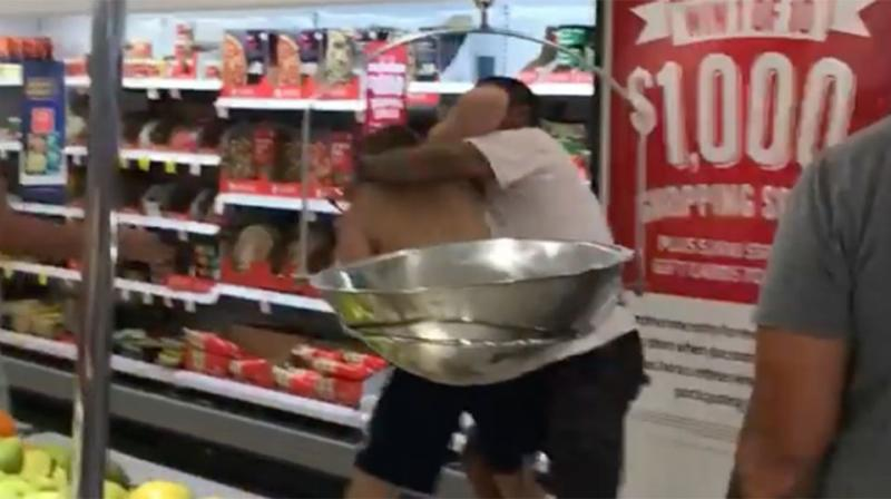 The fighting shoppers fled the store within minutes after they were told police had been called. Source: Facebook/Richard Harding