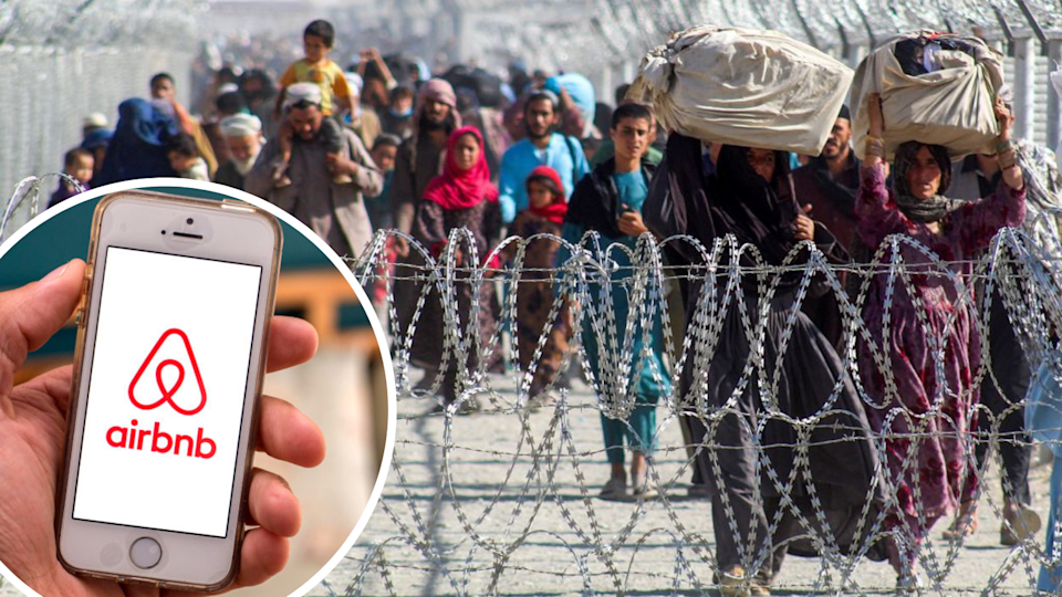 Airbnb CEO Brian Chesky has announced it will host 20,000 Afghan refugees for free. (Source: Getty)