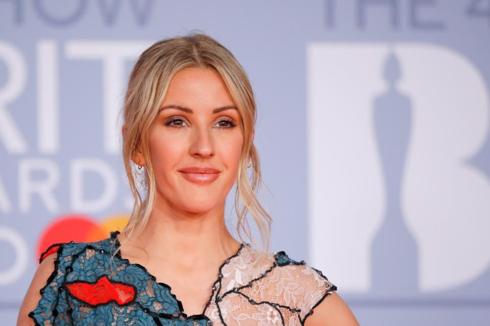 British singer-songwriter Ellie Goulding poses on the red carpet on arrival for the BRIT Awards 2020 in London on February 18, 2020. (Photo by Tolga AKMEN / AFP) / RESTRICTED TO EDITORIAL USE  NO POSTERS  NO MERCHANDISE NO USE IN PUBLICATIONS DEVOTED TO ARTISTS (Photo by TOLGA AKMEN/AFP via Getty Images)