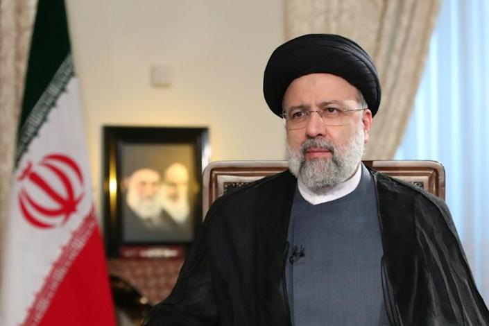 A picture provided by the Iranian presidency on September 4, 2021 shows President Ebrahim Raisi during a TV interview (AFP/-)