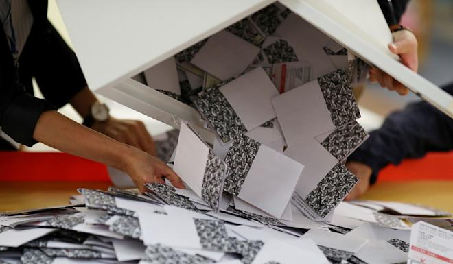 There was a record turnout for Hong Kong's district council elections in what has been a crushing defeat for the pro-establishment camp. Photo: Reuters