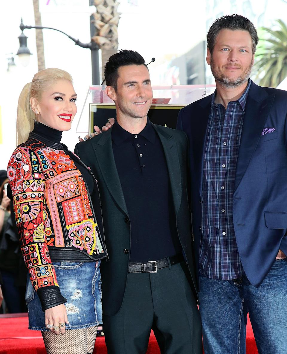 """<p>Blake has previously said that <a href=""""https://www.popsugar.com/celebrity/adam-levine-siriusxm-interview-on-blake-shelton-wedding-48244458"""" class=""""link rapid-noclick-resp"""" rel=""""nofollow noopener"""" target=""""_blank"""" data-ylk=""""slk:he'd love for Adam Levine to perform"""">he'd love for Adam Levine to perform</a> at his <a class=""""link rapid-noclick-resp"""" href=""""https://www.popsugar.com/latest/Wedding"""" rel=""""nofollow noopener"""" target=""""_blank"""" data-ylk=""""slk:wedding"""">wedding</a>. Though it's unclear if Adam did end up performing, Blake did sing during the wedding. During the <strong>TODAY</strong> show, Carson Daly revealed that <a href=""""http://people.com/country/blake-shelton-wrote-gwen-stefani-song-for-wedding-vows/"""" class=""""link rapid-noclick-resp"""" rel=""""nofollow noopener"""" target=""""_blank"""" data-ylk=""""slk:Blake wrote Gwen a song"""">Blake wrote Gwen a song</a> for his vows, titled """"Reach the Star."""" """"Not a dry eye in the house,"""" he said of Blake's performance. """"That was a highlight.""""</p>"""