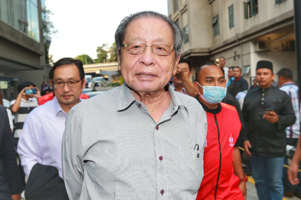 Lim Kit Siang also accused Tan Sri Annuar Musa of acting like US President Donald Trump, who is currently being impeached and locked out of his social media accounts, for allegedly inciting violence. — Picture by Ahmad Zamzahuri