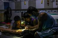 While nearly every country in the world has partially or fully reopened schools to in-person classes, the Philippines has kept them closed since the start of the coronavirus pandemic, the UN says (AFP/Jam STA ROSA)
