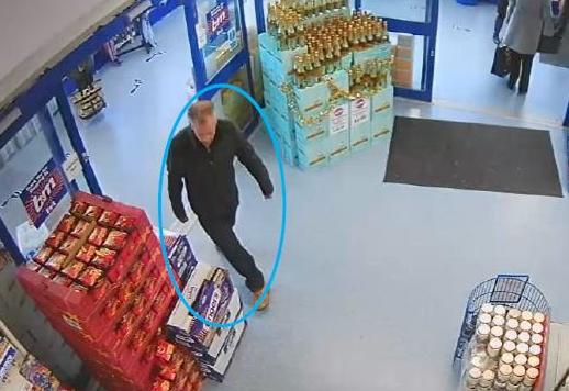 The thief also used Mr Booth's debit card in a branch of B&M (SWNS)