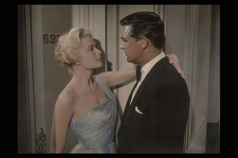 (Original Caption) Grace Kelly and Cary Grant in 'To Catch a Thief' by Alfred Hitchcock. (Photo by Paramount Pictures/Sunset Boulevard/Corbis via Getty Images)